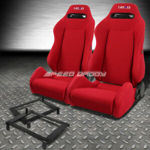 Nrg Type R Red Reclinable Racing Seat Low Mount Bracket For 02 06 Dc5 Acura Rsx