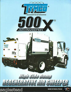 Equipment Brochure Tymco 500x Regenerative Air Sweeper 2012 e3002