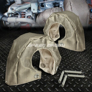 T4 Gt35 Gt37 Gt40 Gt45 Gt47 Twin Turbo Charger Titanium Heat Shield Wrap Blanket