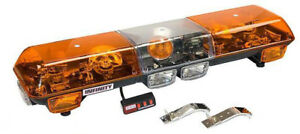 Infinity 1 Snow Plow Tow Truck Tractor Rotating Amber Light Bar Wolo 7000 A