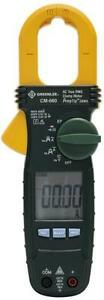 Greenlee Cm 600 Clamp On Lcd 600 Voltage Ac Amp Meter Electrical Tester 3442829