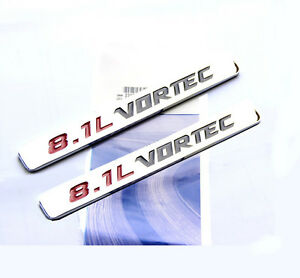 2x Oem Chrome 8 1l Vortec Emblem Badge 3d Decal Gmc Sierra 2500hd 3500hd W2u