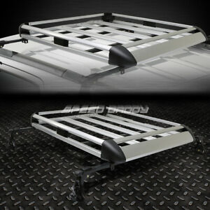 50 x 38 aluminum Roof Rack Car suv Top Cargo Luggage bag Carrier Basket crossbar