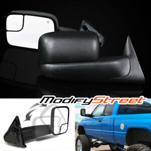 For 98 01 Dodge Ram 1500 98 02 2500 3500 Power heated Flip up Tow Side Mirrors