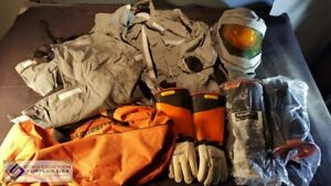 Salisbury Xl Welders Suit Set Incl Hood Jacket Bib Overall Gloves 40 Cal cm2