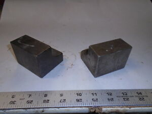 Machinist Tools Lathe Mill Lot Of 2 Tool Makers Angle Plate Fixture S
