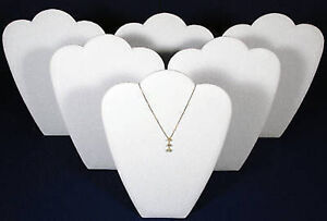6 White 11 Leather Necklace Pendant Jewelry Displays