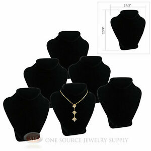 6 2 5 8 Pendant Necklace Black Velvet Mini Jewelry Bust Display Stand
