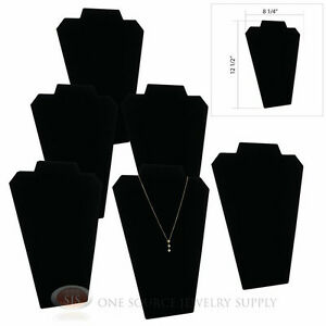 6 12 1 2 Black Velvet Padded Pendant Necklace Display Easel Presentation