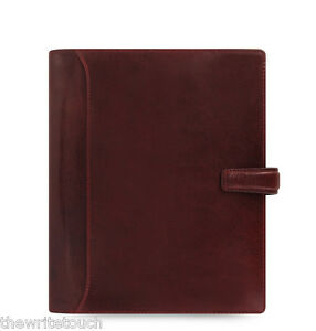 Filofax 2018 Lockwood A5 Leather Organizer Calendar Agenda Garnet Red C021689