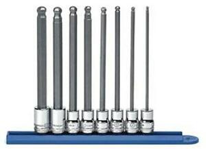 Gearwrench 8 Pc 3 8 Dr Metric Long Ball Hex Bit Socket Set 80573