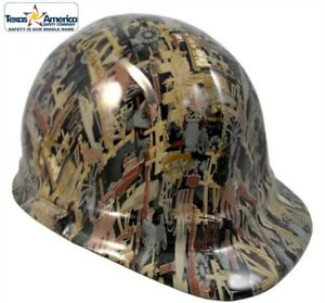 Hydro Dipped Cap Style Hard Hat With Ratchet Suspension Oilfield Camo
