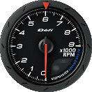 Defi Advance Cr Tachometer 9000rpm Black 60mm 9402 Sti