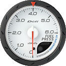Defi Advance Cr Fuel Pressure Gauge White 60mm 9001 Sti
