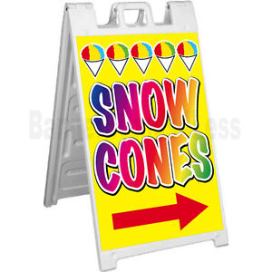 Signicade A frame Sign Sidewalk Sandwich Pavement Concession Sign Snow Cones