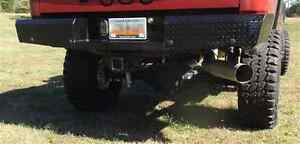 Trail Fx Fx1013 Black Steel Heavy Duty Rear Bumper For Chevy Silverado 2500 Hd