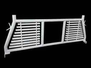 Trail Fx H0003w White Headache Rack W Window Cut Out For Ram 2500 F150 Tundra