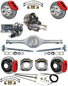 New Suspension Wilwood Brake Set currie Rear End posi trac Gear booster 677014