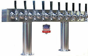 Stainless Steel Draft Beer Tower Made In Usa 10 Faucets Air Cooled pt10ss