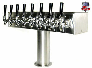 Stainless Steel Draft Beer Tower Made In Usa 8 Faucets Air Cooled Ttb 8ss