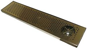 Draft Beer Rinser Drip Tray 36 X 8 W S s Grill 4 Metal Drain Dtw 36ss r