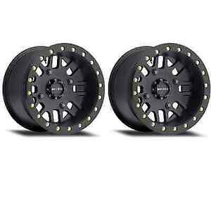 Method Race 406 Beadlock Mr40648046544b Utv Wheel Rims 14x8 2mm 4x156 Black