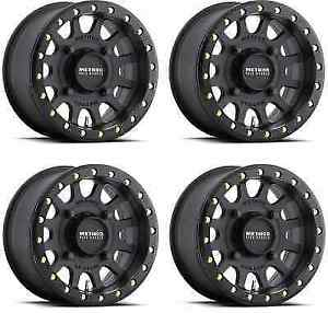 Method Race 401 Beadlock Mr40147046543b Utv Wheel Rims 14x7 13mm 4x156 Black