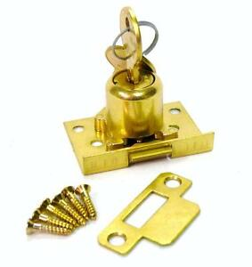 Indiana Cash Drawer Replacement Lock Half Mortise Springlatch Style Brass