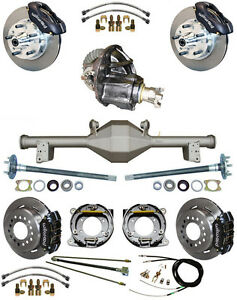 New Suspension Wilwood Brake Set currie Rear End posi trac Gear booster 879311