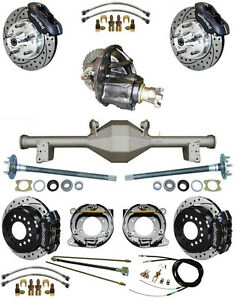 New Suspension Wilwood Brake Set currie Rear End posi trac Gear booster 879313