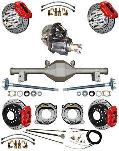 New Suspension Wilwood Brake Set currie Rear End posi trac Gear booster 879314