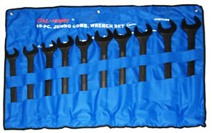 New 10pc Jumbo Metric Combo Wrench Set 34mm 50mm Combination Black Oxide