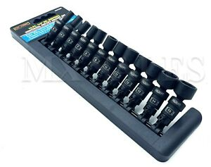 1 4 Dr Universal Swivel Impact 6 Point Socket Set Professional 12pc Mm Skt