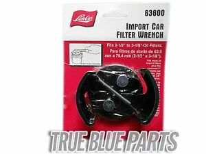 Lisle Tools 63600 Import Car Oil Filter Wrench 2 1 2 3 1 8
