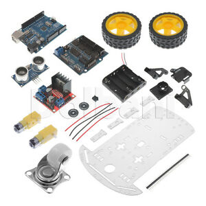 New 2wd Programmable Car Robot Starter Kit Arduino Compatible Smart Car