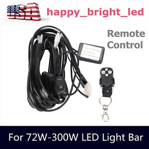 Wiring Harness Remote Control Flash Strobe Switch Relay Fuse Led Light 1lead Kit