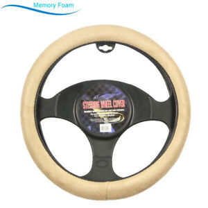 Brand New Beige Soft Memory Foam Car Truck Steering Wheel Cover