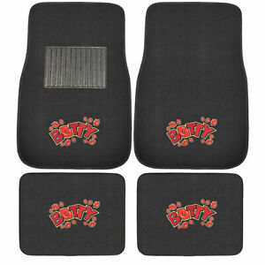 New 4pcs Set Ed Hardy Peacock Red Heart Car Truck Front Back Carpet Floor Mats