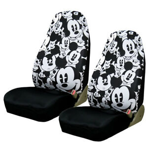 Brand New Disney Classic Cartoon Mickey Mouse Car Truck 2 Front Seat Covers