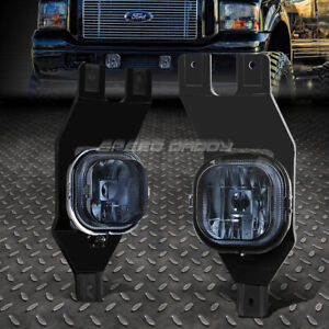 For 99 04 Ford F250 F350 F450 Super Duty Excursion Smoked Lens Fog Light Lamps