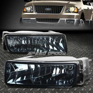 For 03 06 Ford Expedition U222 Smoked Lens Oe Bumper Driving Fog Light Lamp Pair