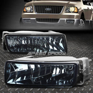 For 03 06 Ford Expedition Smoked Lens Bumper Driving Fog Light Replacement Lamps