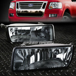 For 06 10 Ford Explorer Sport Trac Smoked Lens Bumper Fog Light Replacement Lamp
