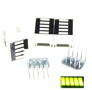 5pcs Led Bar Display Segments 5led Bar Graph Yellow Green Light 5 Segment Bar Ne