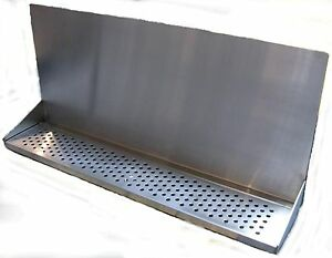 Draft Beer Tower Wall Mt Drip Tray 30 Long W S s Grill Drain Dtwm30ss