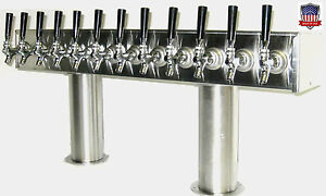 Stainless Steel Draft Beer Tower Made In Usa 12 Faucets Glycol Ready Ptb 12ssg