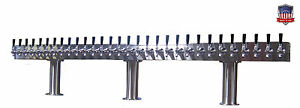 Stainless Steel Draft Beer Tower Made In Usa 30 Faucets Glycol Ready Ptb 30ssg