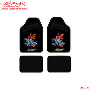 New Ed Hardy By Christian Audigier Koi Front Rear Car Truck Carpet Floor Mats