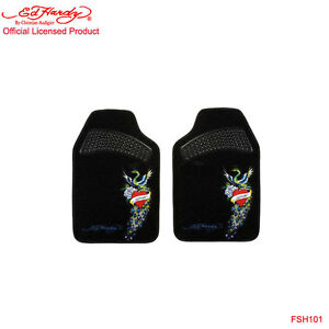 New Ed Hardy By Christian Audigier Peacock 2 Front Car Truck Carpet Floor Mats