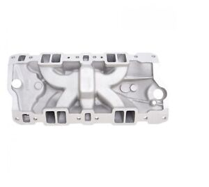 Edelbrock 2703 Performer Eps Intake Manifold W Oil Fill Tube For Sb Chevy